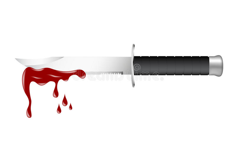 Download Knife with blood stock vector. Image of icon, hurt, metallic - 24292295