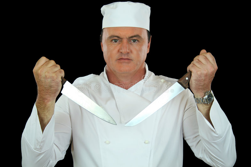 Knife Chef Royalty Free Stock Images