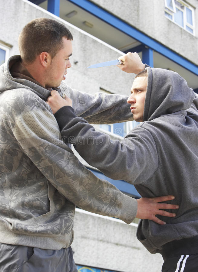 Free Knife Crime On Urban Street Royalty Free Stock Images - 10401259