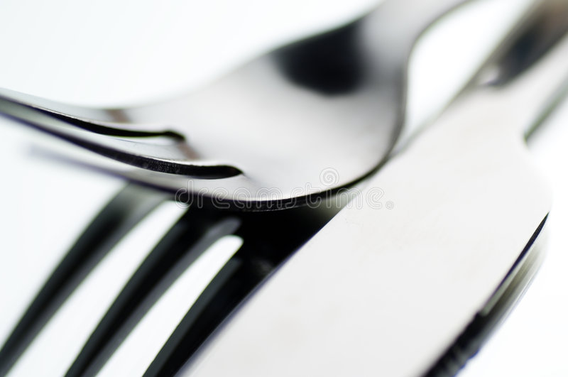 Download Knife and fork stock photo. Image of light, space, silverware - 1460506