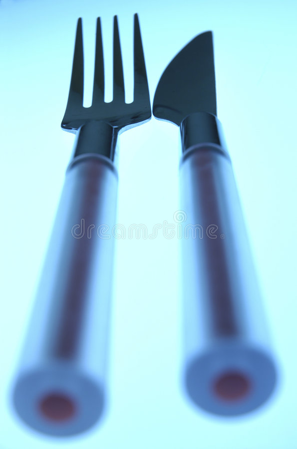 Download Knife and fork stock photo. Image of kitchen, silver, knife - 167116