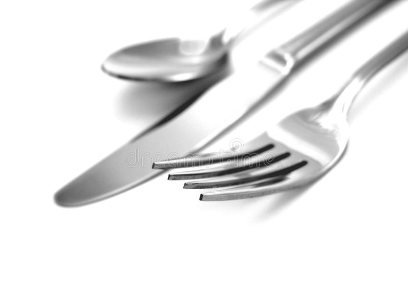 Knife, fork and spoon royalty free stock image