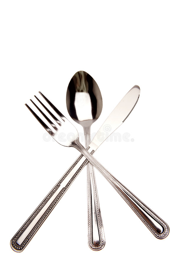 Knife, fork and spoon royalty free stock images