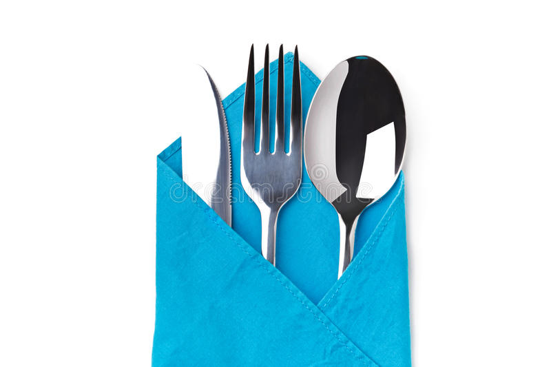 Knife, Fork, Spoon isolated royalty free stock photos