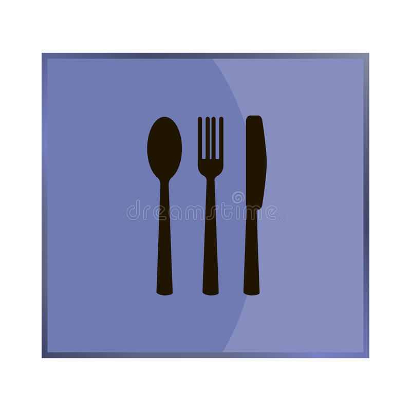 Knife fork spoon. Table setting. Vector icon on bluebackground  sc 1 st  Dreamstime.com & Knife Fork Spoon. Table Setting. Stock Vector - Illustration of ...