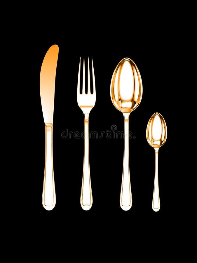 Download Knife, Fork, Spoon, Tea-spoon Stock Illustration - Image: 3274810