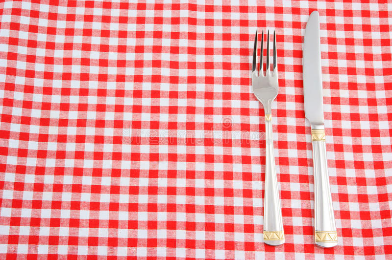 Download Knife And Fork On Tablecloth Stock Photo - Image: 13454494