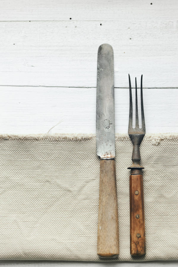 Knife and fork stock image