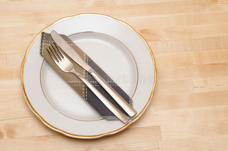 Download Knife And Fork With White Plate Stock Photo - Image: 19523910