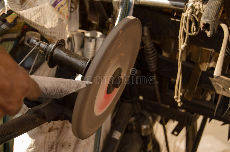 Download Knife grinding stock image. Image of exterior, andhra - 30574849