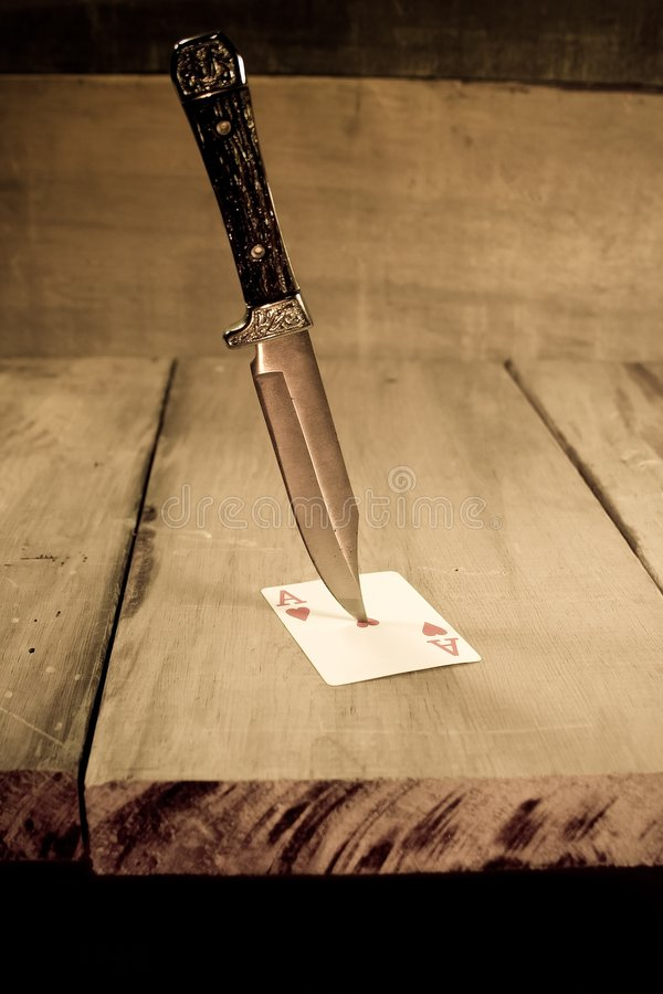 Knife in the Hart stock photos