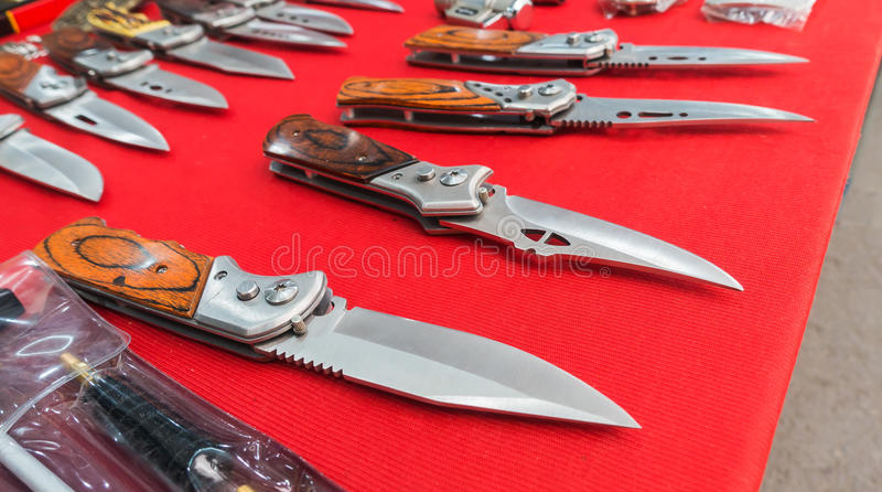 Knife for hiking stock image