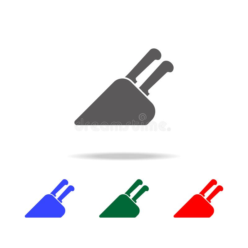 Knife holder icon. Elements of cooking multi colored icons. Premium quality graphic design icon. Simple icon for websites, web des. Ign, mobile app, info royalty free illustration