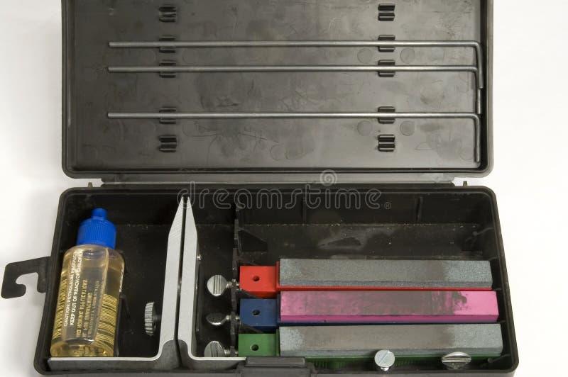 Knife sharpening kit stock photos