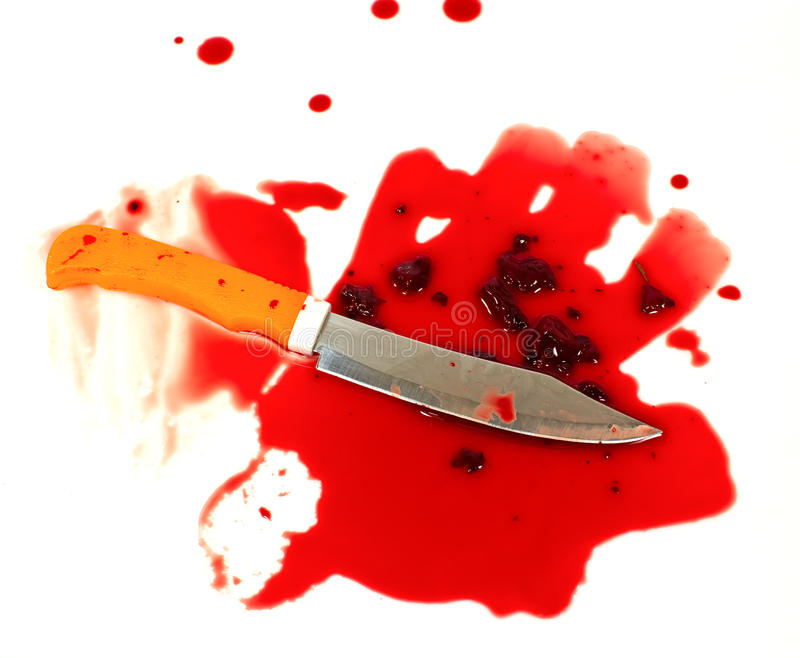Download A Knife Smeared With Blood. Stock Image - Image: 28346585