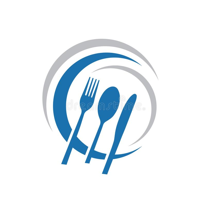 Free Knife Spoon And Fork Abstract Logo Vector Graphic Food Icon Symbol For Cooking Business Cafe Or Restaurant Royalty Free Stock Images - 156625379