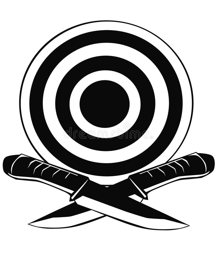 Download Knife And A Target Stock Photography - Image: 26032402