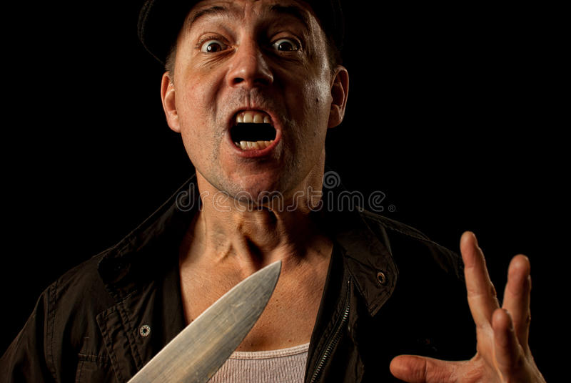 Download Knife wielding mugger stock image. Image of criminal - 24104105