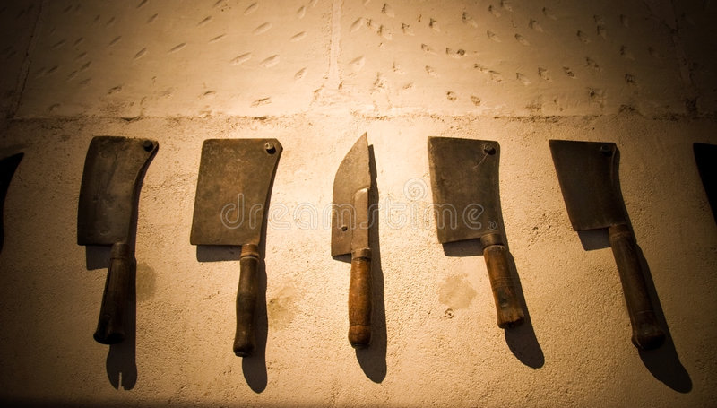 knifes中世纪集 免版税库存照片