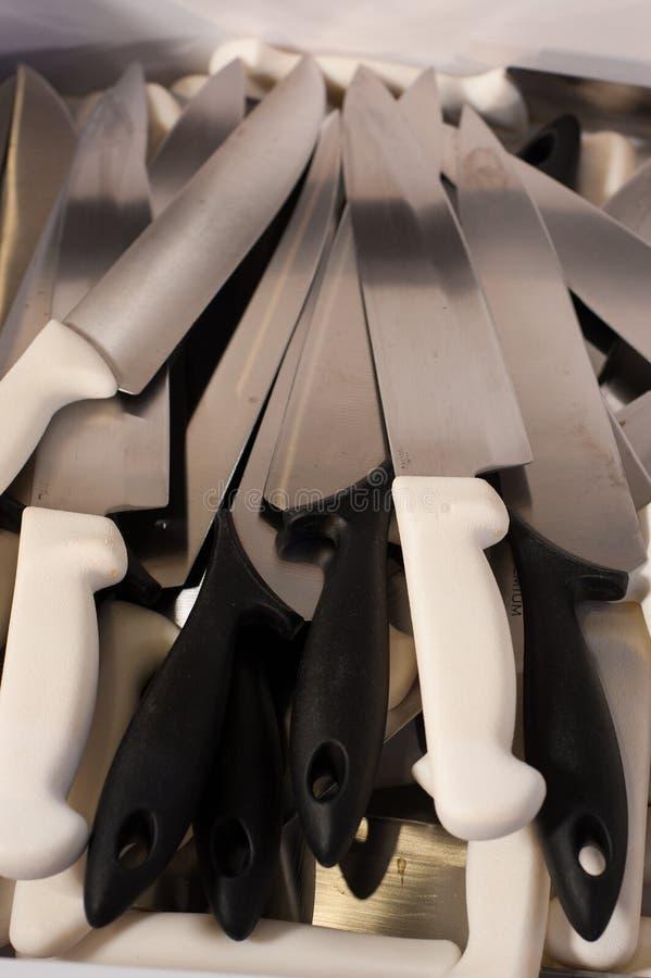 Knifes da cozinha imagens de stock