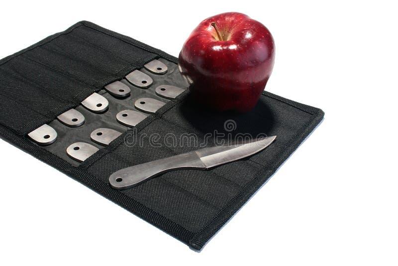 Knifes für ein Werfen lizenzfreies stockbild