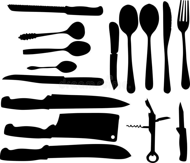 knifes spoones ελεύθερη απεικόνιση δικαιώματος