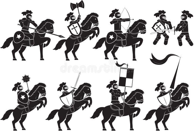 Knight-armed. Illustration of warrior knight - Illustration vector illustration