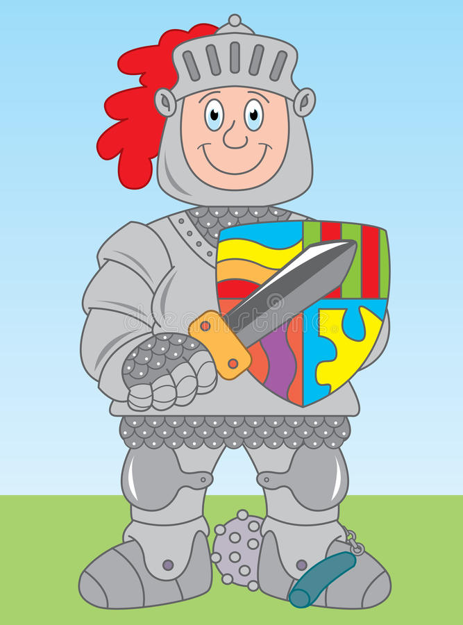 Knight in armor royalty free illustration