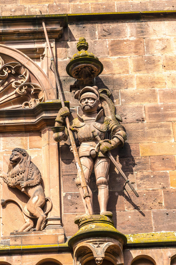 Knight in Armor. A statue of a knight in armor at the Heidelberg Castle in Germany stock photography