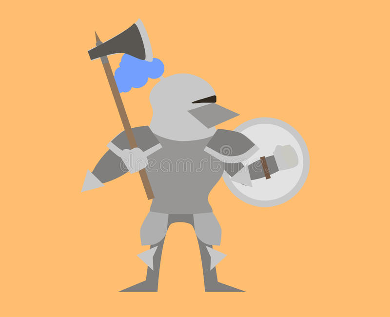 Knight with axe royalty free stock images