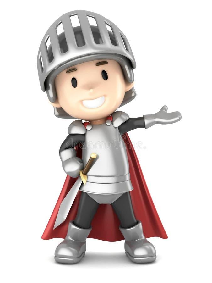 Knight boy vector illustration