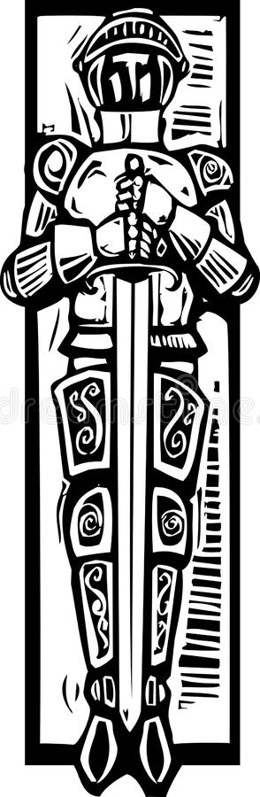 Knight Burial Image Royalty Free Stock Images