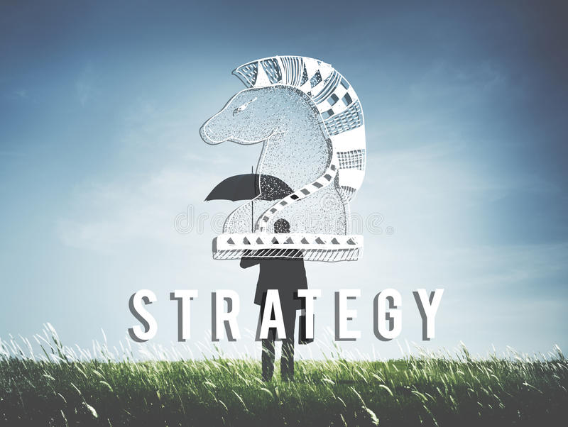 Knight Chess Piece Strategy Graphic Concept royalty free stock images