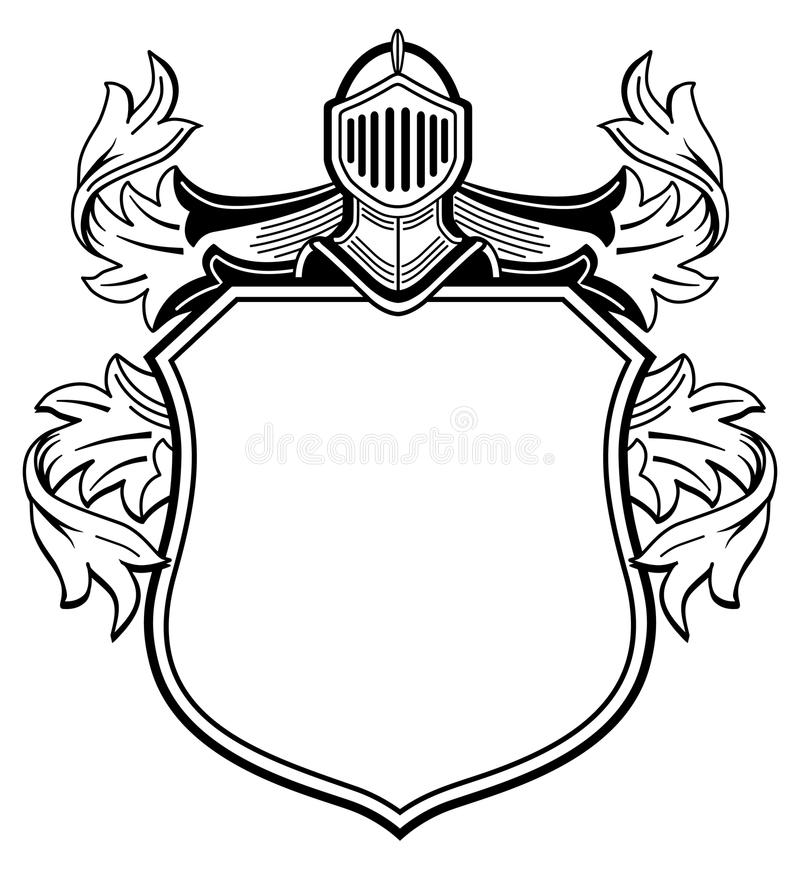 Knight With Coat Of Arms Stock Vector Illustration Of Royalty