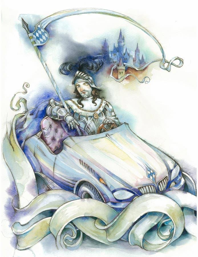 Download Knight en un coche stock de ilustración. Ilustración de medieval - 7150606