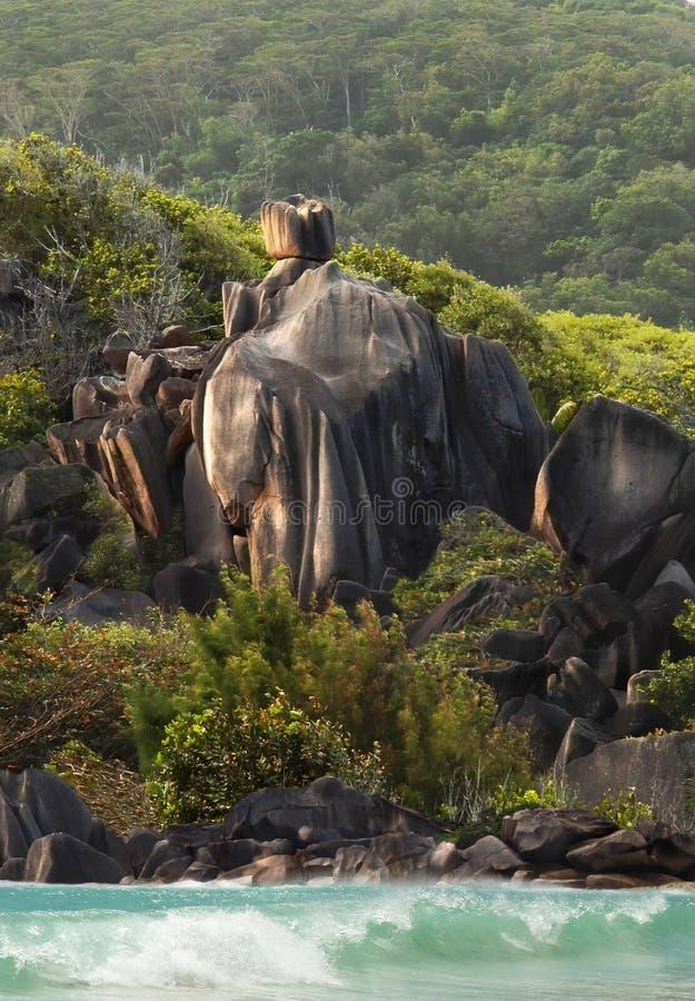 Download Knight Equestrian Coast Guard. Rocks Of Seychelles Stock Photo - Image: 15988910