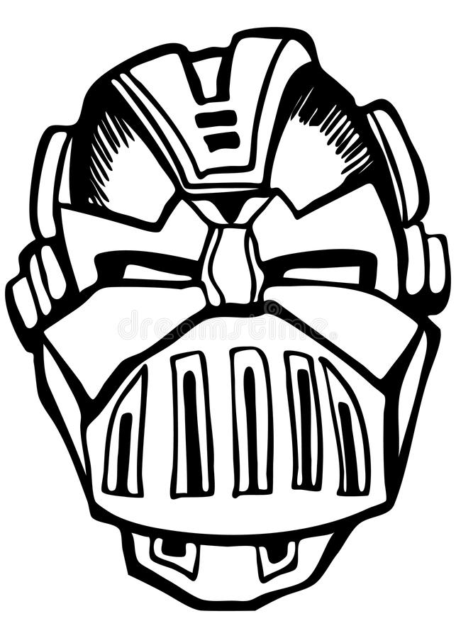 Download Knight Helmet stock vector. Image of robot, design, knight - 14216527