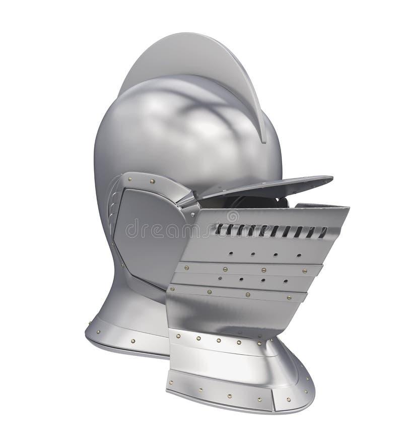 Knight Helmet Isolated stock illustration