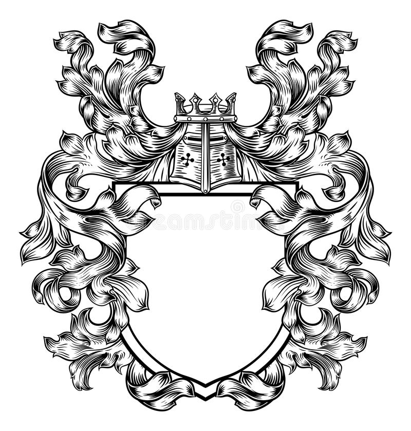 Free Knight Heraldic Crest Coat Of Arms Shield Emblem Stock Photos - 101621683