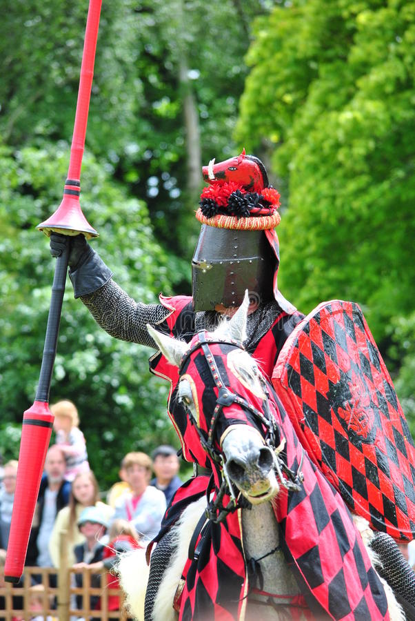 Download Knight Upon Horse Ready For Combat With Lance Stock Photo - Image: 28611636