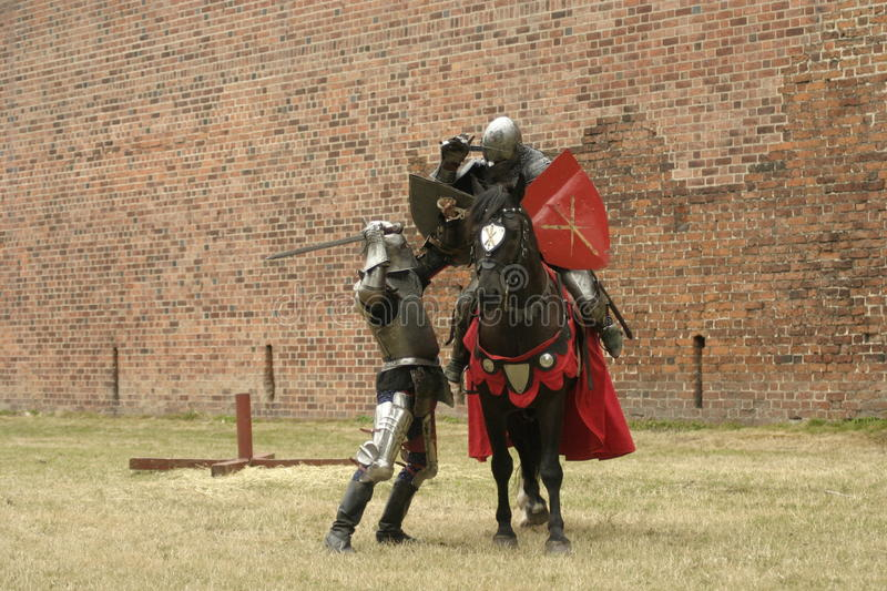 Knight on horse royalty free stock image