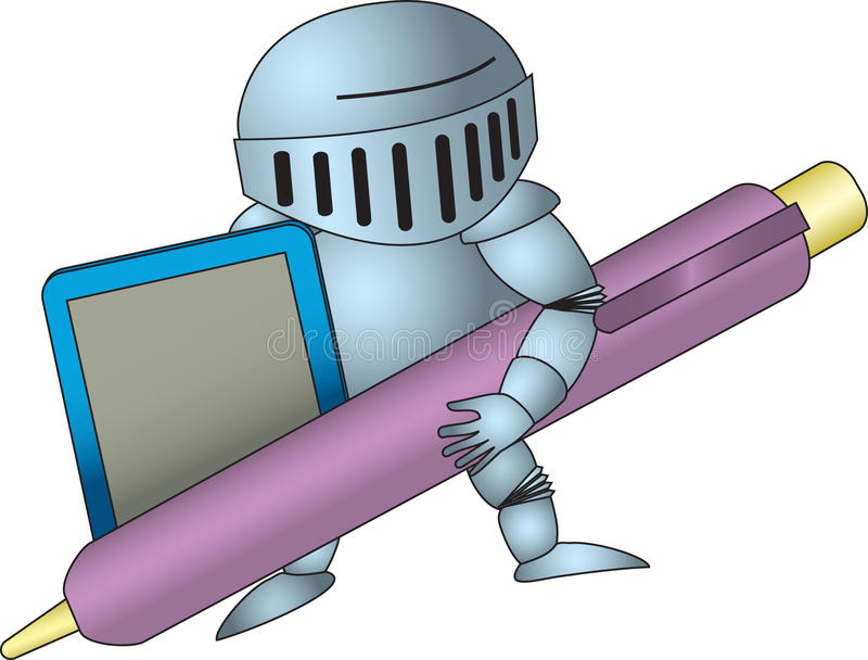 Knight-illustrator stock images