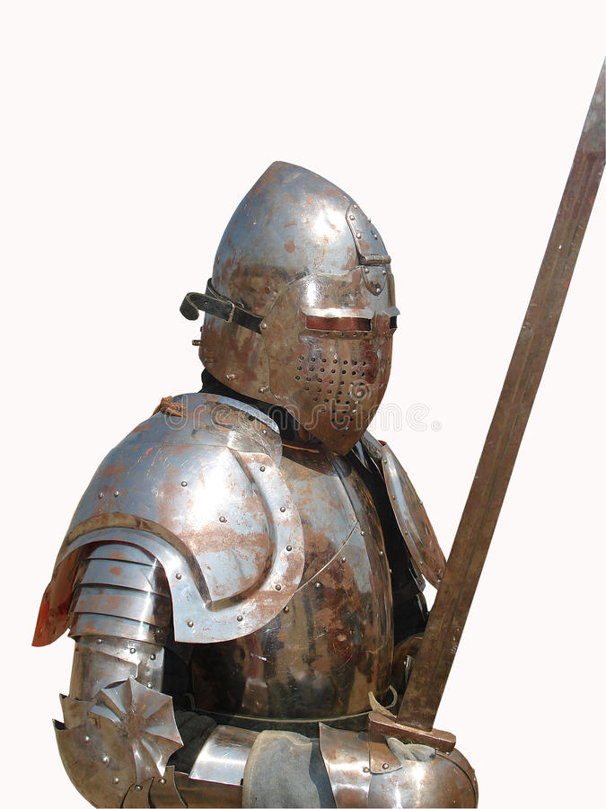 Knight.Isolated medioevale immagine stock libera da diritti