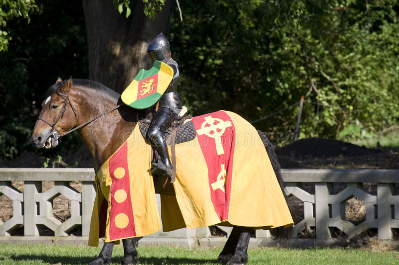 Knight. Medieval Festival stock photography