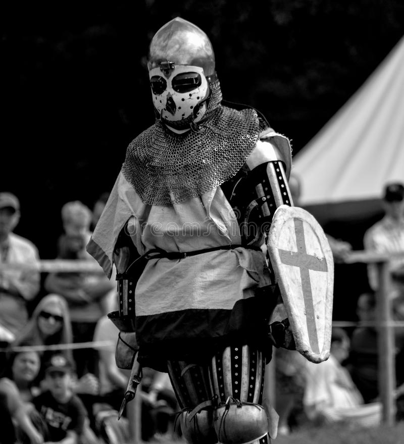 Knight. A picture of knights fighting at the Loxwood Joust stock images