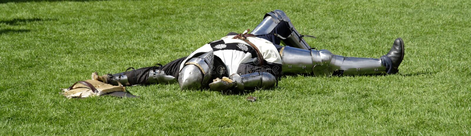 Download Knight playing dead stock photo. Image of plantagenate - 2923160