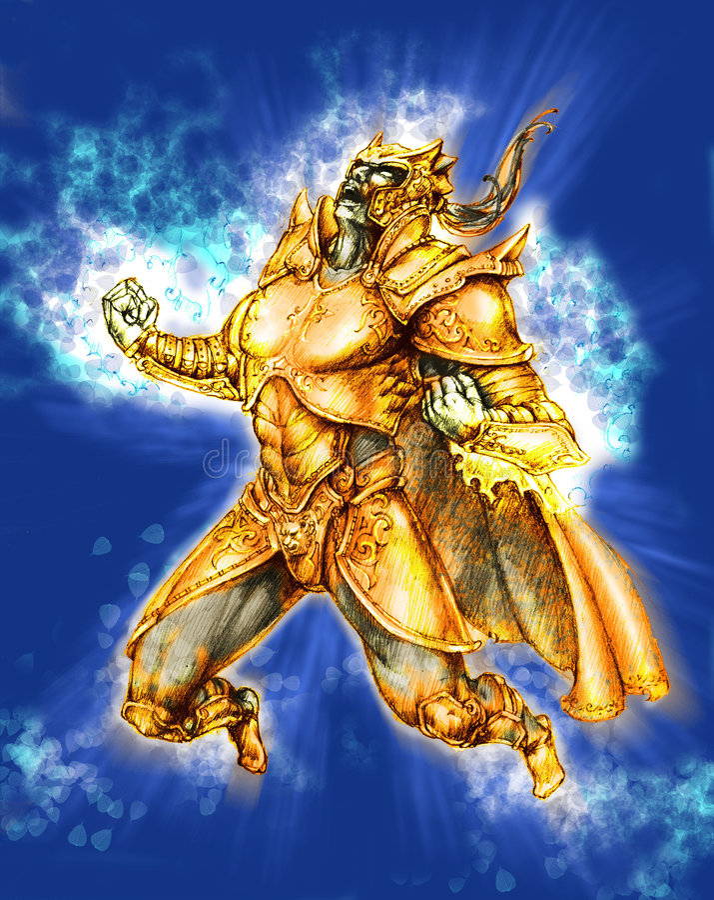 Knight Power Up royalty free illustration