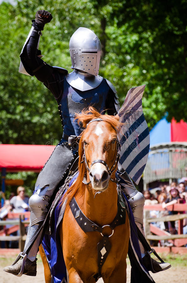 Knight at Renaissance Festival stock image