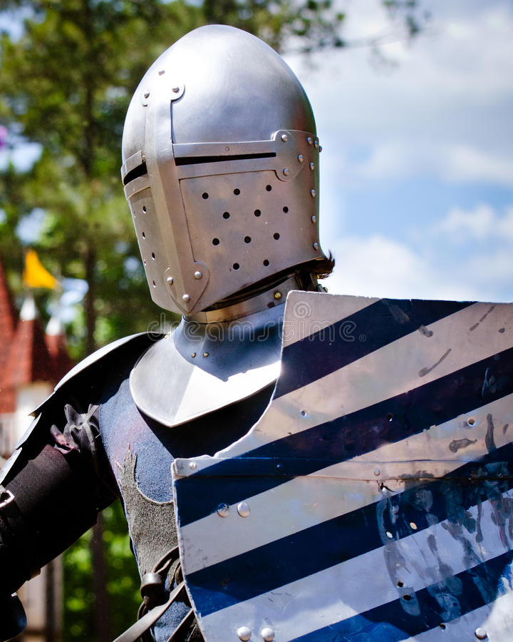 Knight at Renaissance Festival stock photography