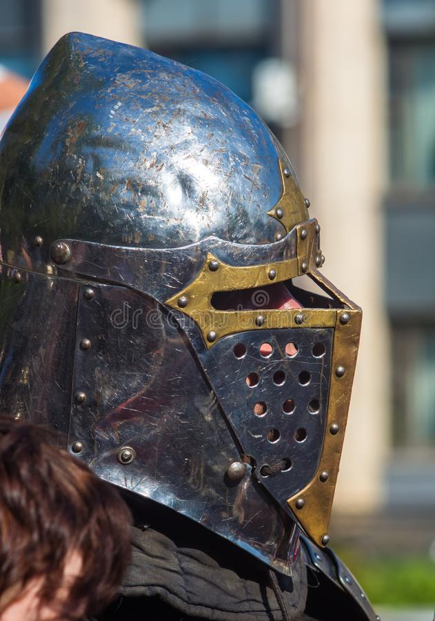 Knight's armour for historical reconstructions stock image